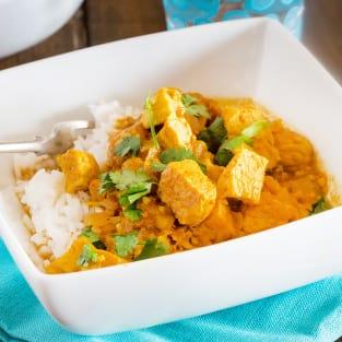 Quick chicken curry photo