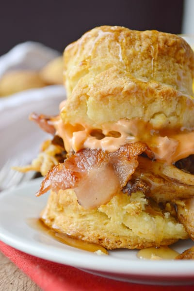 Pulled Pork Breakfast Biscuits Image
