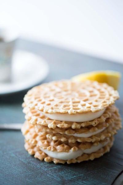 Lemon Ginger Pizzelle Sandwich Cookies Picture