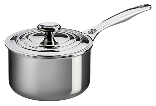 Le creuset 3 quart stainless steel saucepan