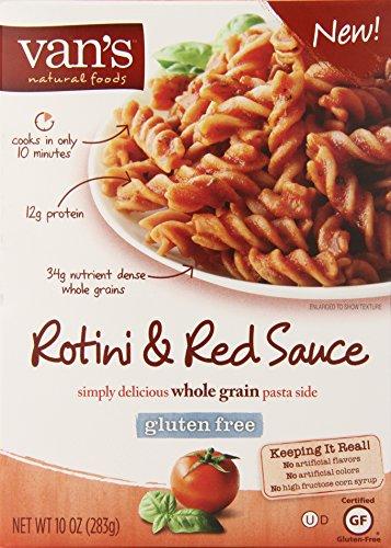 Vans gluten free red sauce and rotini pasta